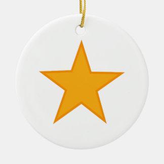 Applique Star Ceramic Ornament