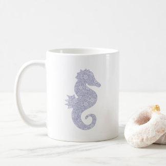 Applique Style Seahorse Coffee Mug