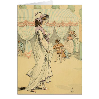 Appointment at the cafe de Tuileries 1898 Card