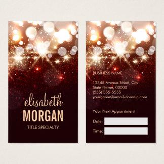 Appointment Card - Modern Fashion Glitter Sparkle