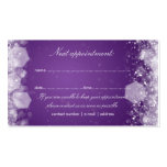 Appointment Card Sparkling Night Purple Business Card