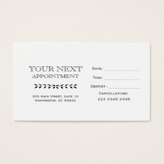 Appointment Minimal  Hand-Drawing Vintage Branch Business Card