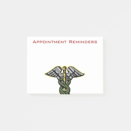 Appointment Reminder Post-It Notes