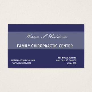 Appointment Simple Minimal Doctor Chiropractic Business Card