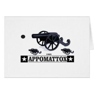appomattox guns and fire card