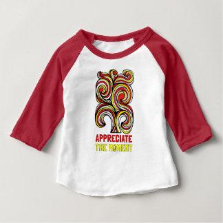 """Appreciate the Moment"" Baby Raglan Shirt"
