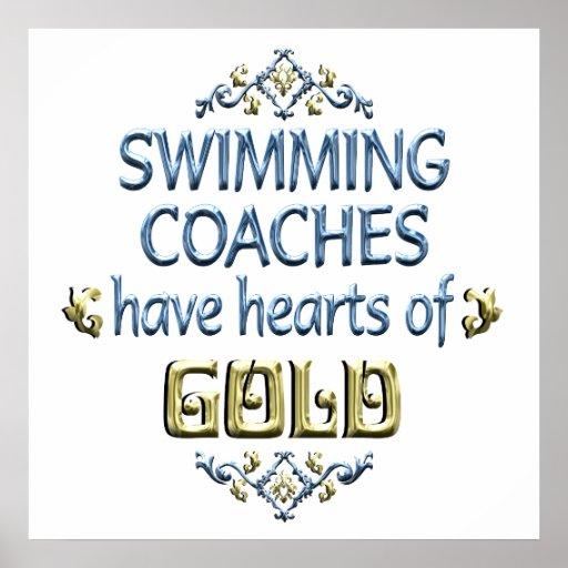 Appréciation d'entraîneur de natation posters