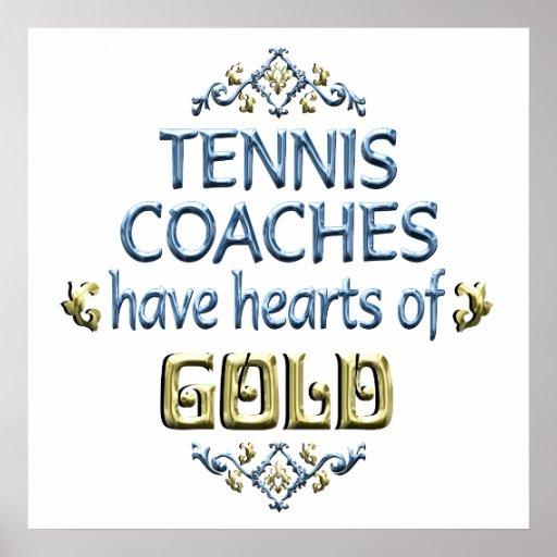 Appréciation d'entraîneur de tennis posters