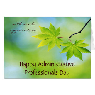 Appreciation for Administrative Professionals Day Note Card