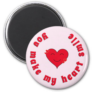 Appreciation inspirational quote heart smile magnet