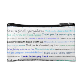 Appreciation series - Thank you dad for... Cosmetic Bags