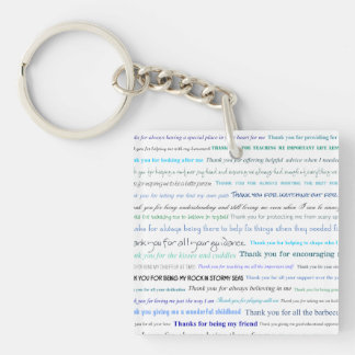 Appreciation series - Thank you dad for... Keychain
