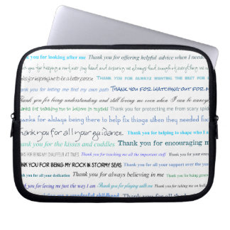 Appreciation series - Thank you dad for... Laptop Computer Sleeves