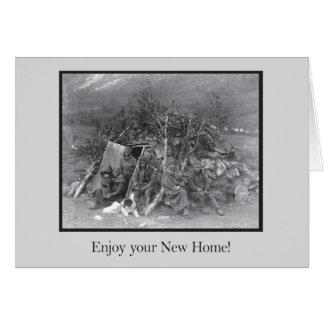 appréciez votre nouvelle maison ! carte de correspondance