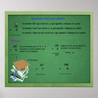 Apprendre addition poster