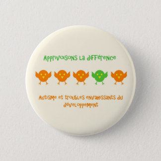 Apprivoisons la différence rond2 - macaron 2 inch round button