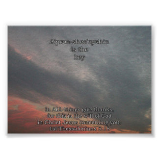 A'pproa-shee'ya-shin' is the key poster
