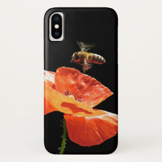 Approach on poppy flower iPhone x case
