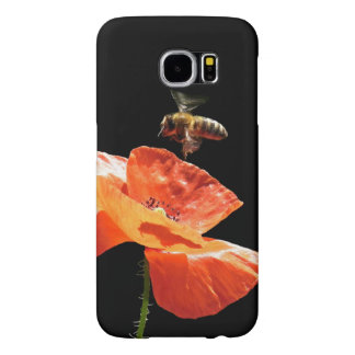 Approach on poppy flower samsung galaxy s6 cases