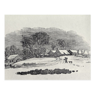 Approaching a Village in the Winter Postcard