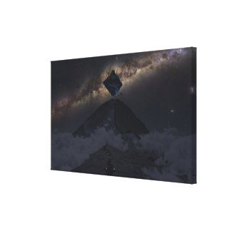 Approaching Asgard (Night) Canvas Print