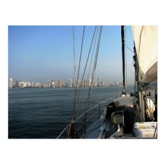 Approaching Cartagena, Colombia Postcard