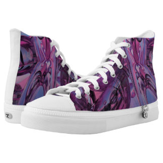 Approaching Destiny abstract high tops, purple High Tops
