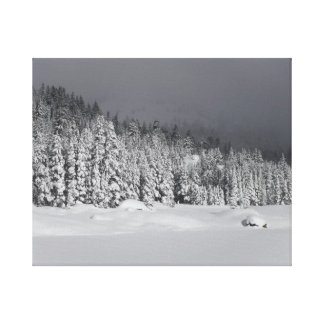 Approaching Snow Storm Canvas Print