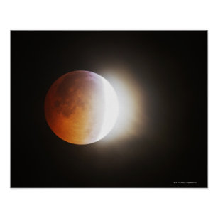 Approching the Total Eclipse of the Moon Poster