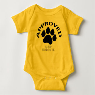 Approved Baby born in Dog Year 2018 Name Bodysuit