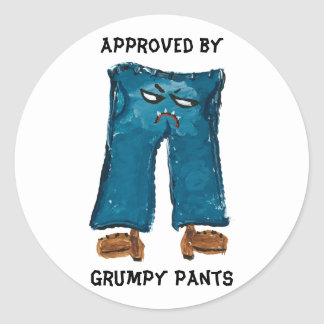 Approved by Grumpy Pants Sticker