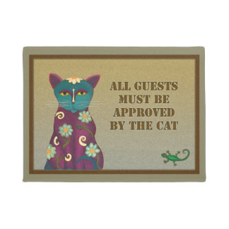 Approved By The Cat Door Mat