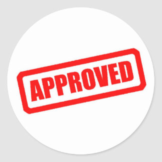 Approved Classic Round Sticker