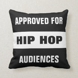 """Approved for ..."" custom name & text throw pillow"