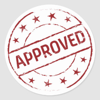 Approved Round Sticker