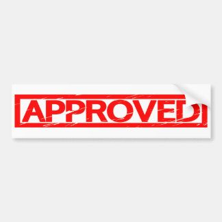 Approved Stamp Bumper Sticker