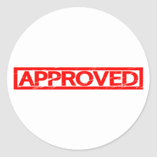 Approved Stamp Classic Round Sticker