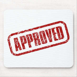 Approved stamp mouse mats