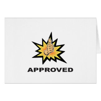 approved thumbs yeah card
