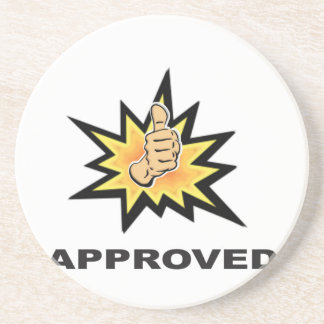approved thumbs yeah coaster