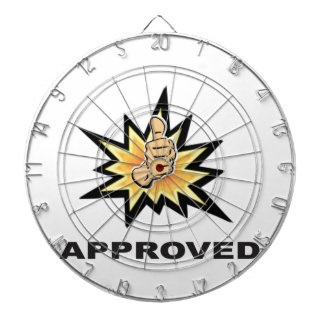 approved thumbs yeah dart board