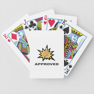 approved thumbs yeah poker deck