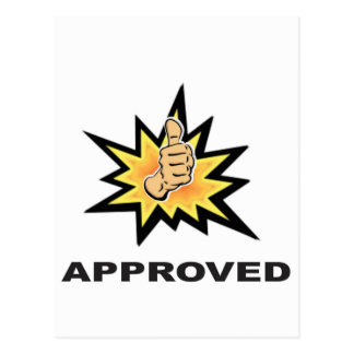 approved thumbs yeah postcard
