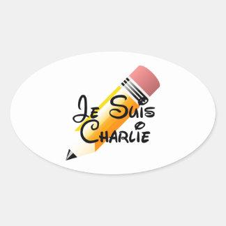 Appui de Je Suis Charlie Stickers Ovales
