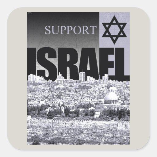 Appui Israël Stickers Carrés