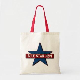 Appui militaire de famille de maman d'étoile bleue sac en toile budget