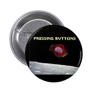 Appuyer sur le bouton de l'exclusivité 2017 de macaron rond 5 cm