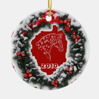 APPY CHRISTMAS RED CERAMIC ORNAMENT