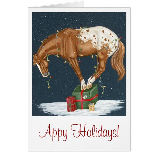 Appy Holidays! Appaloosa Christmas Card