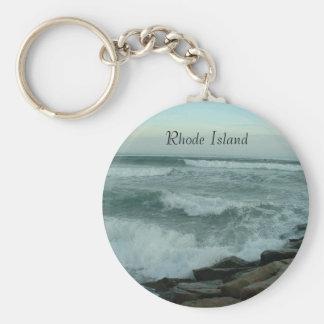Apr508 014, Rhode Island Basic Round Button Keychain